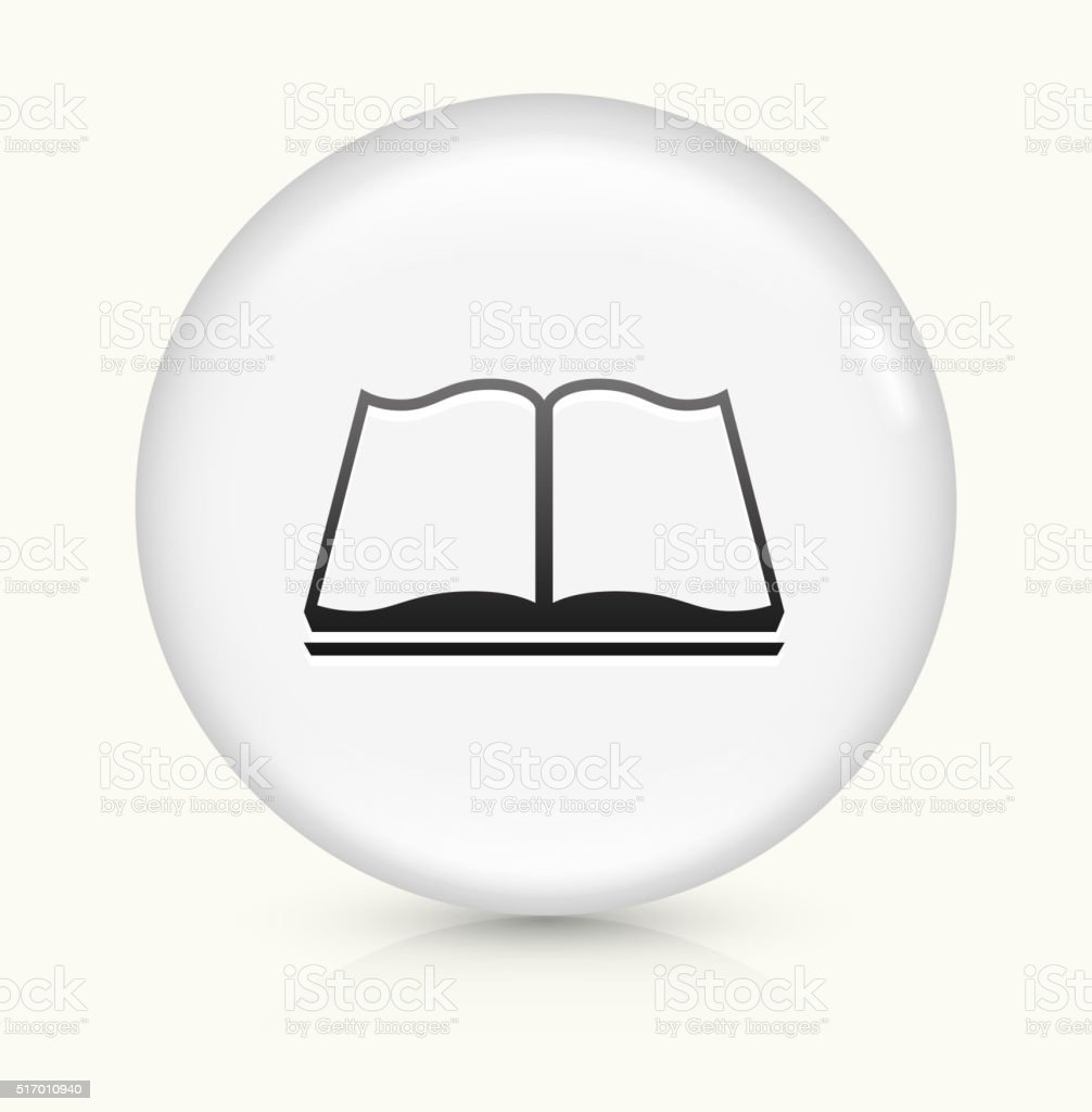 Book Reading icon on white round vector button vector art illustration