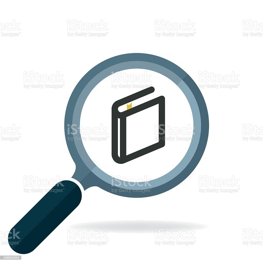 book search icon vector vector art illustration