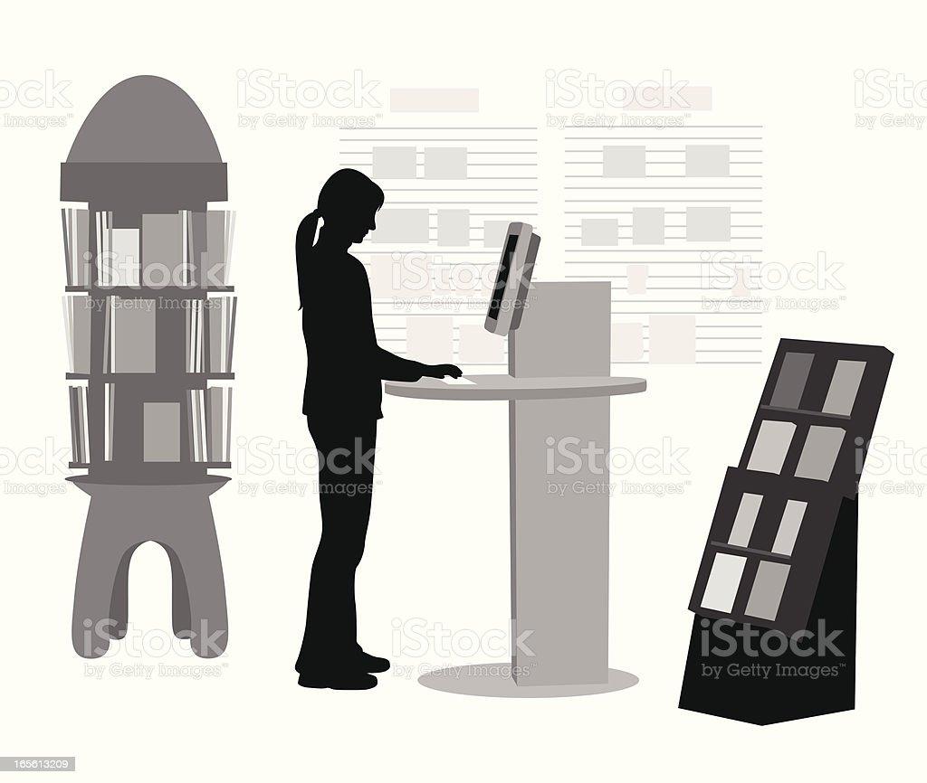 Book Search Vector Silhouette vector art illustration