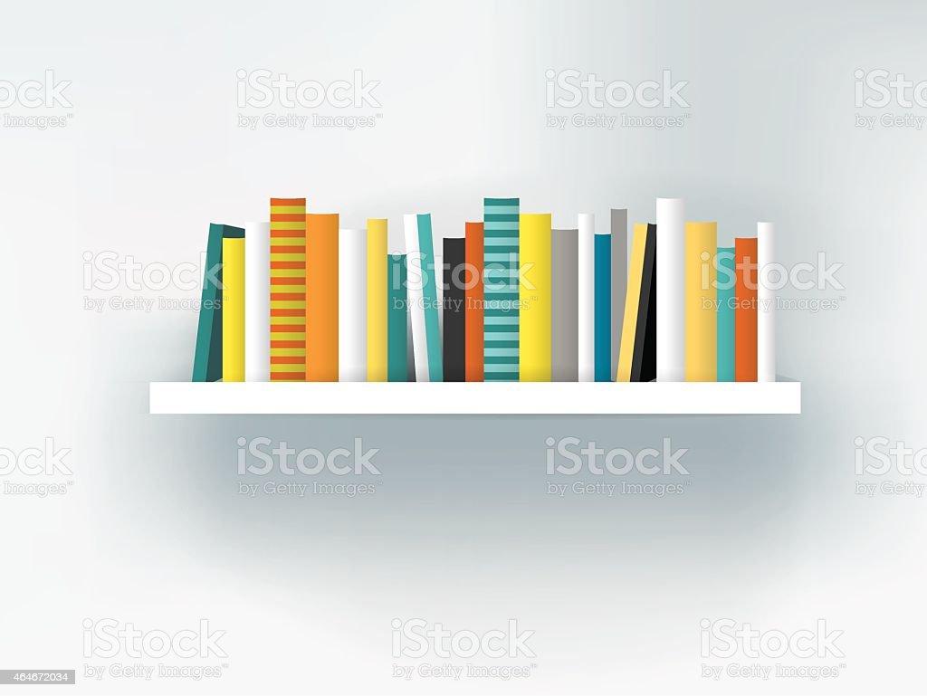 Książki Na Półce Wewnętrznych Nowoczesne Meble Projektowanie Na