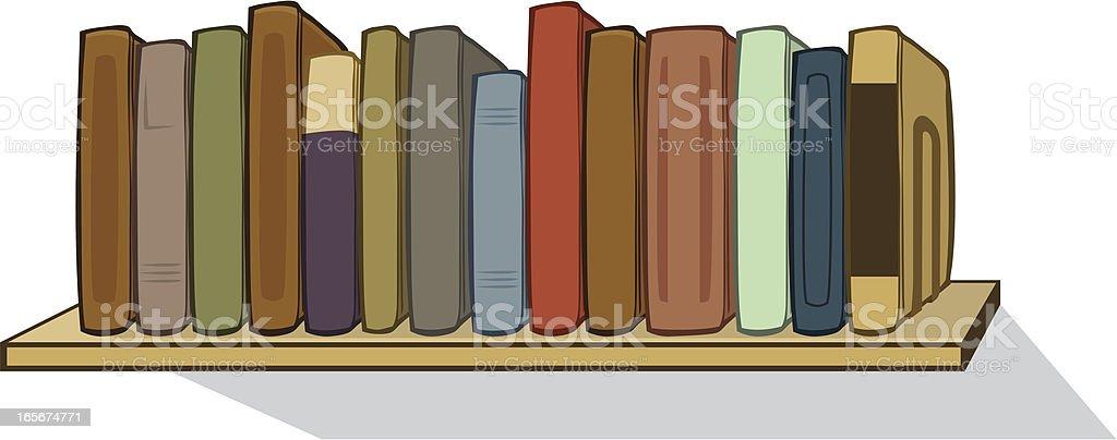 Bücherregal clipart  Buchen Sie Regal Vektor Illustration 165674771 | iStock