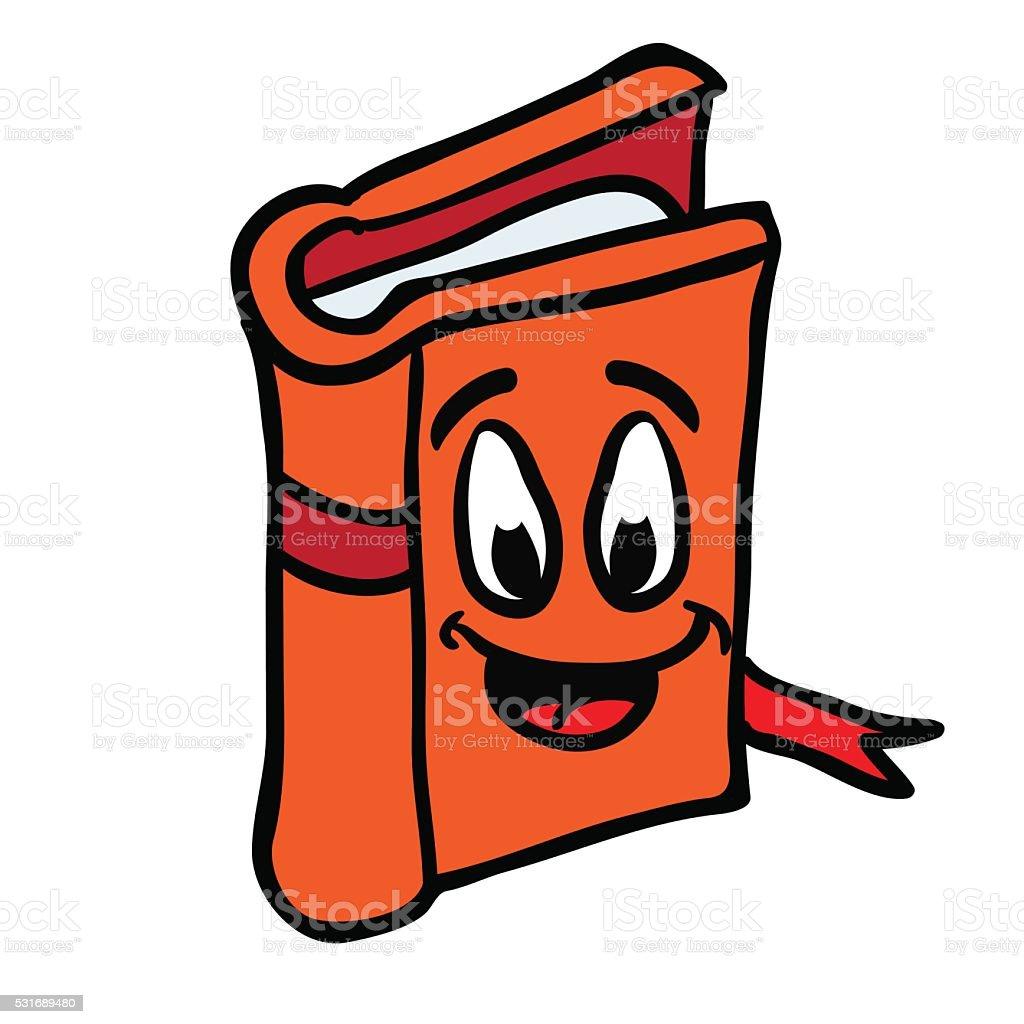 book smiling vector art illustration