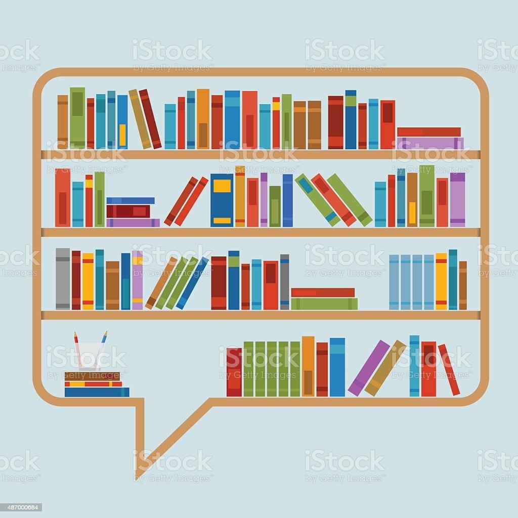 Book Speech Bubble vector art illustration