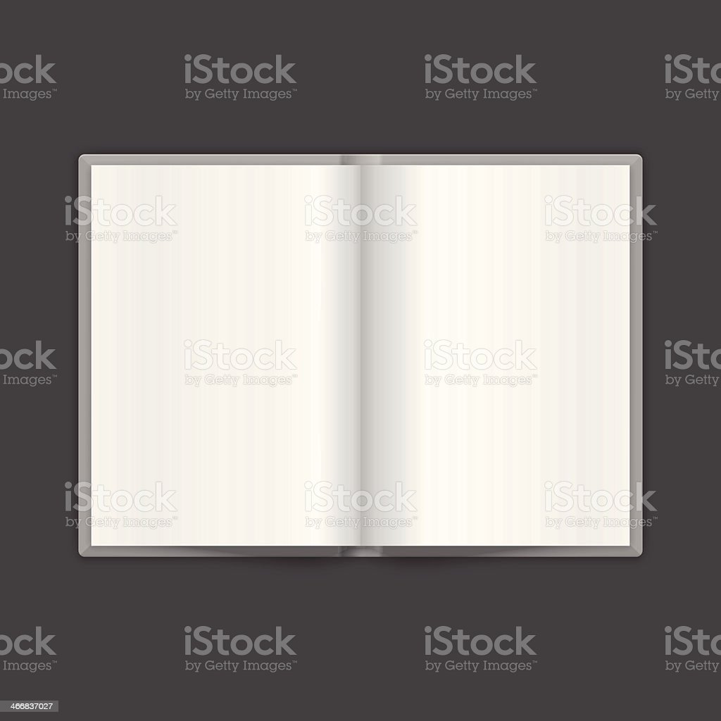 Book Spread With Blank White Pages. Vector royalty-free stock vector art
