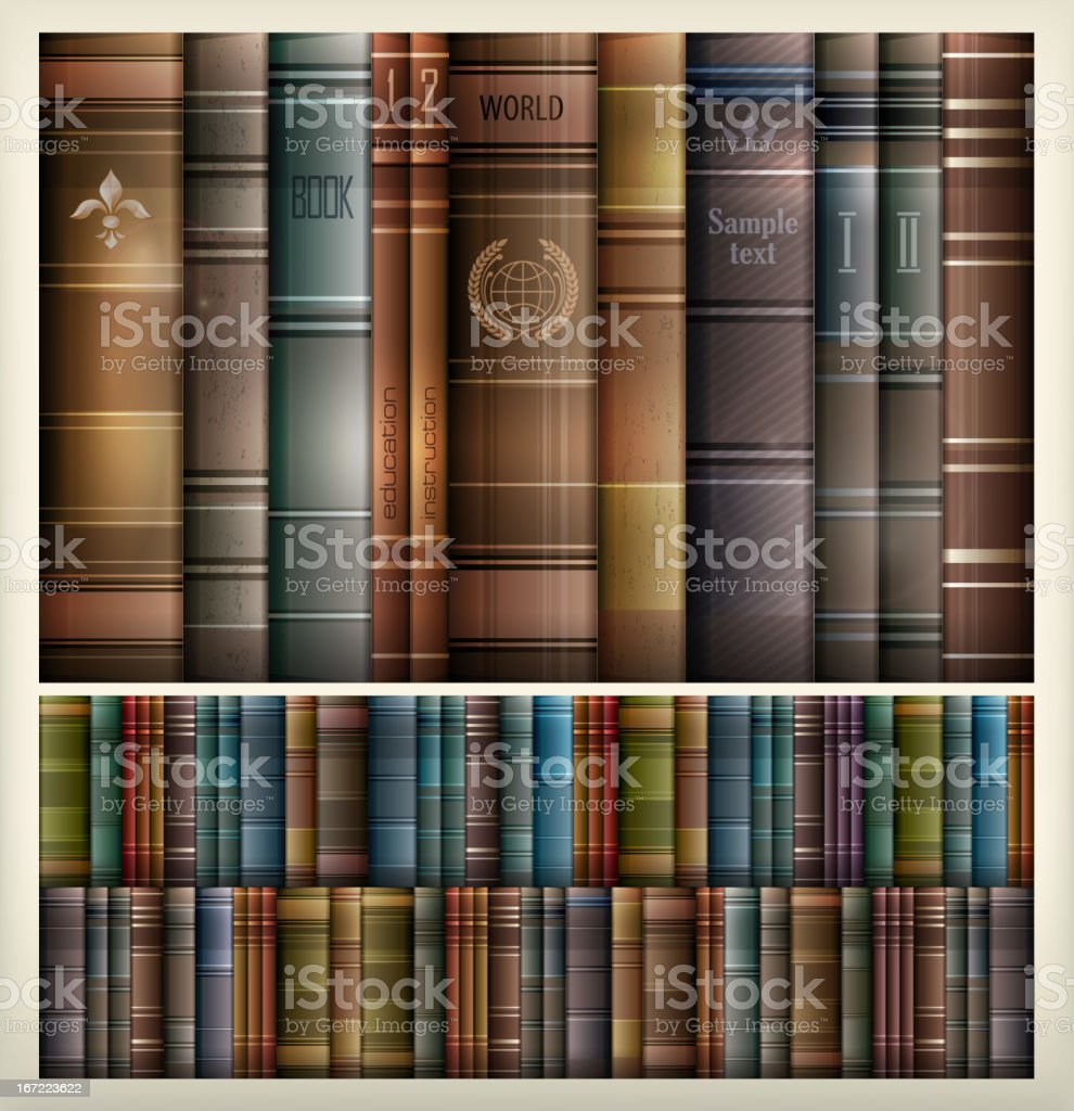 Book stack background royalty-free stock vector art