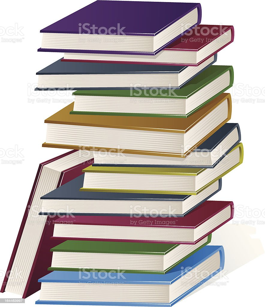 Book Stack vector art illustration