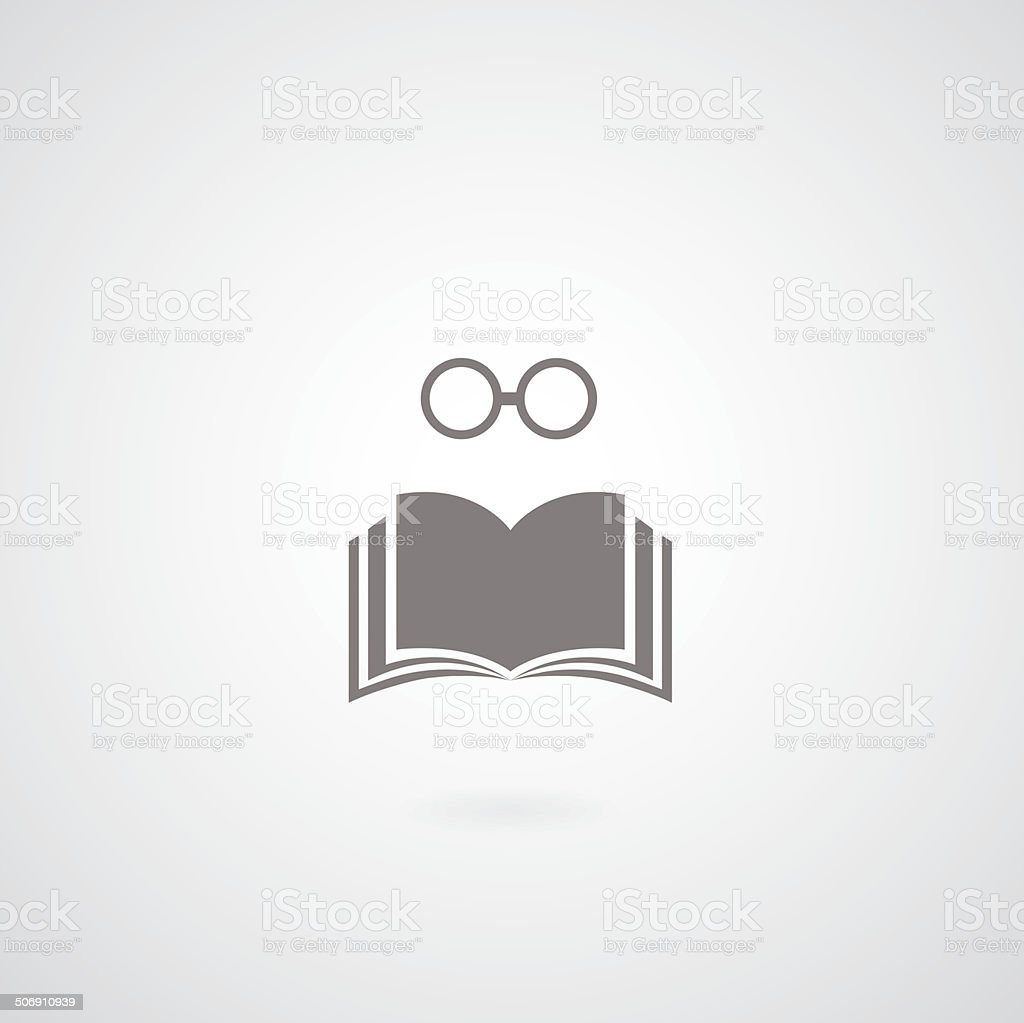 book symbol vector art illustration