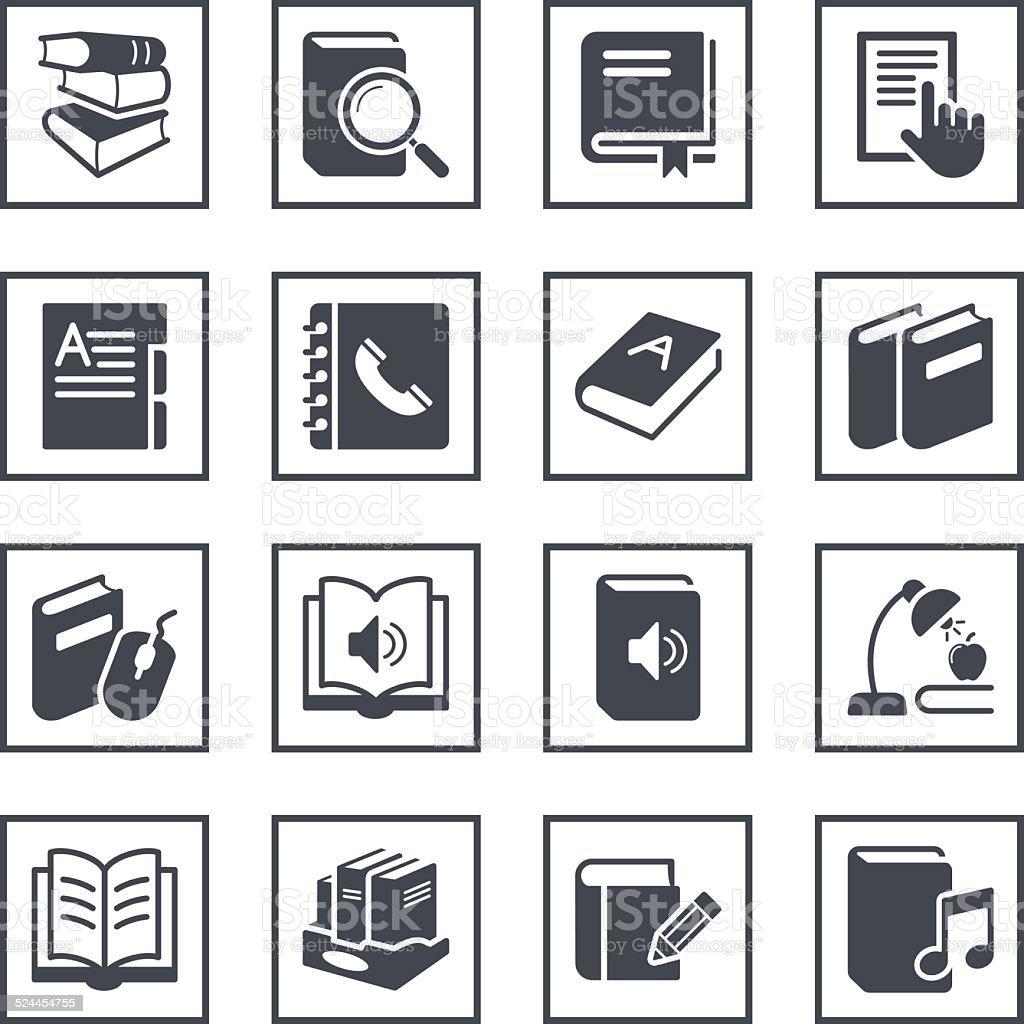 Book Symbols vector art illustration
