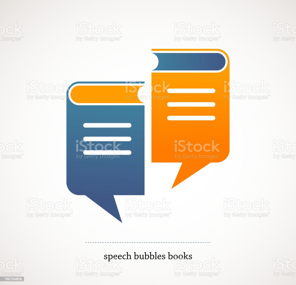 book talks - vector concept design with speech bubbles vector art illustration