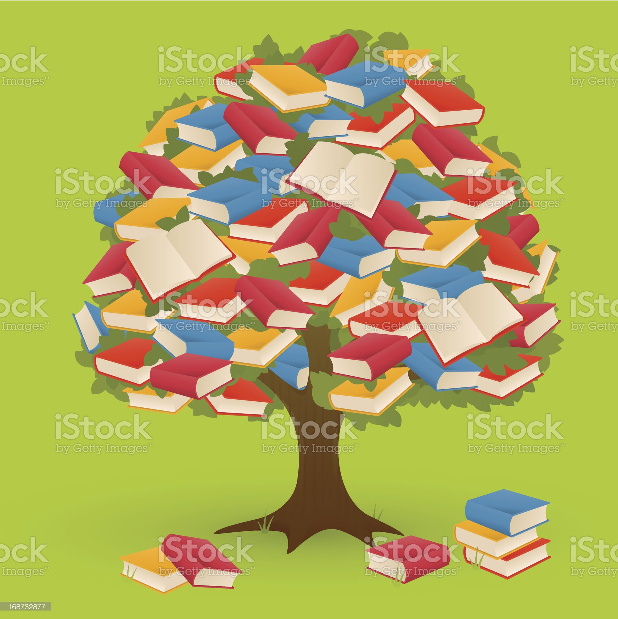 Book Tree royalty-free stock vector art