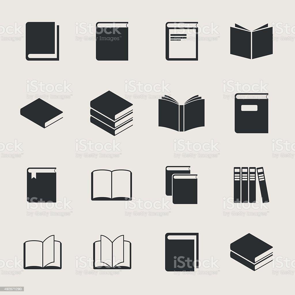 Book Vector Icon Set vector art illustration