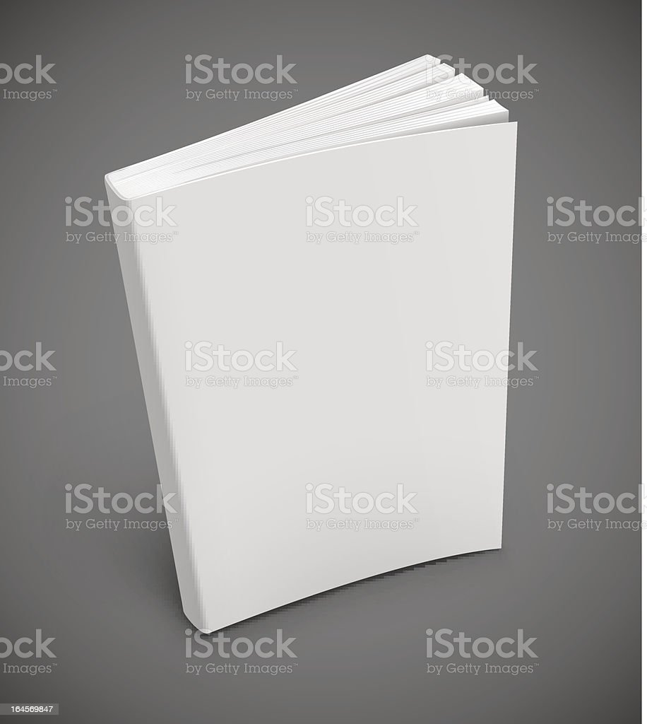 book with blank white cover royalty-free stock vector art