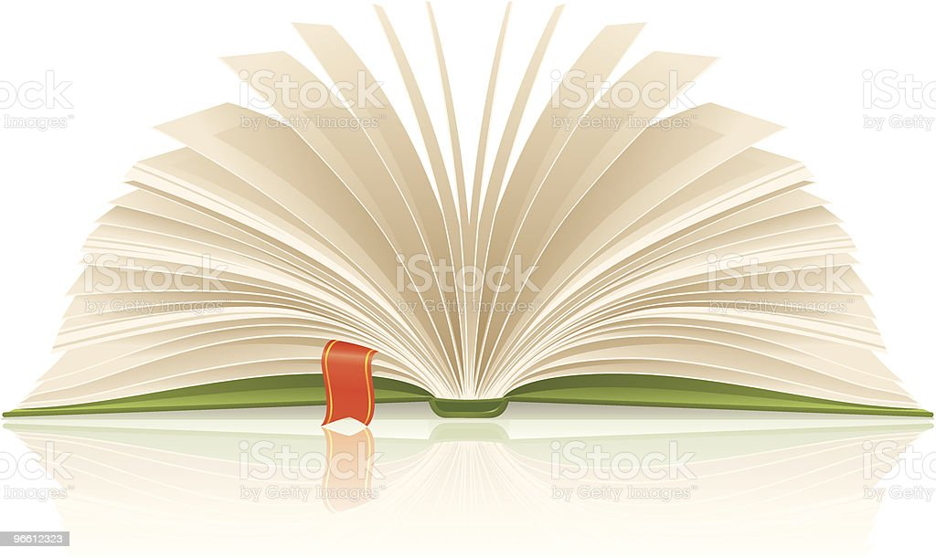 Book with bookmark royalty-free stock vector art
