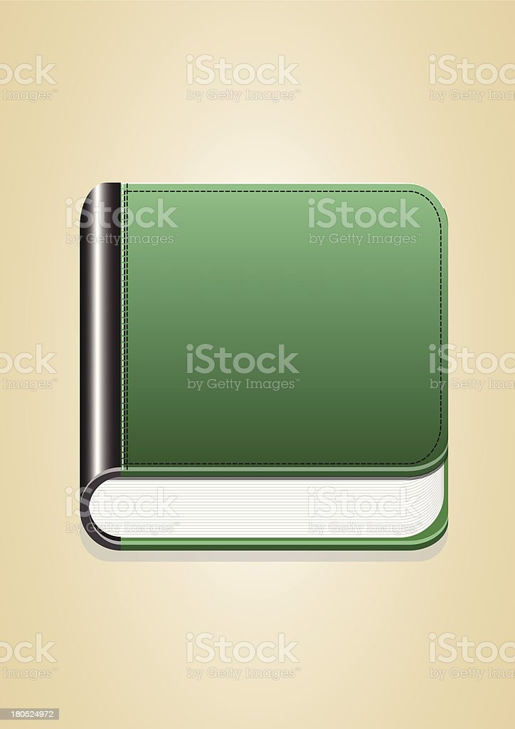 book with green cover vector images royalty-free stock vector art