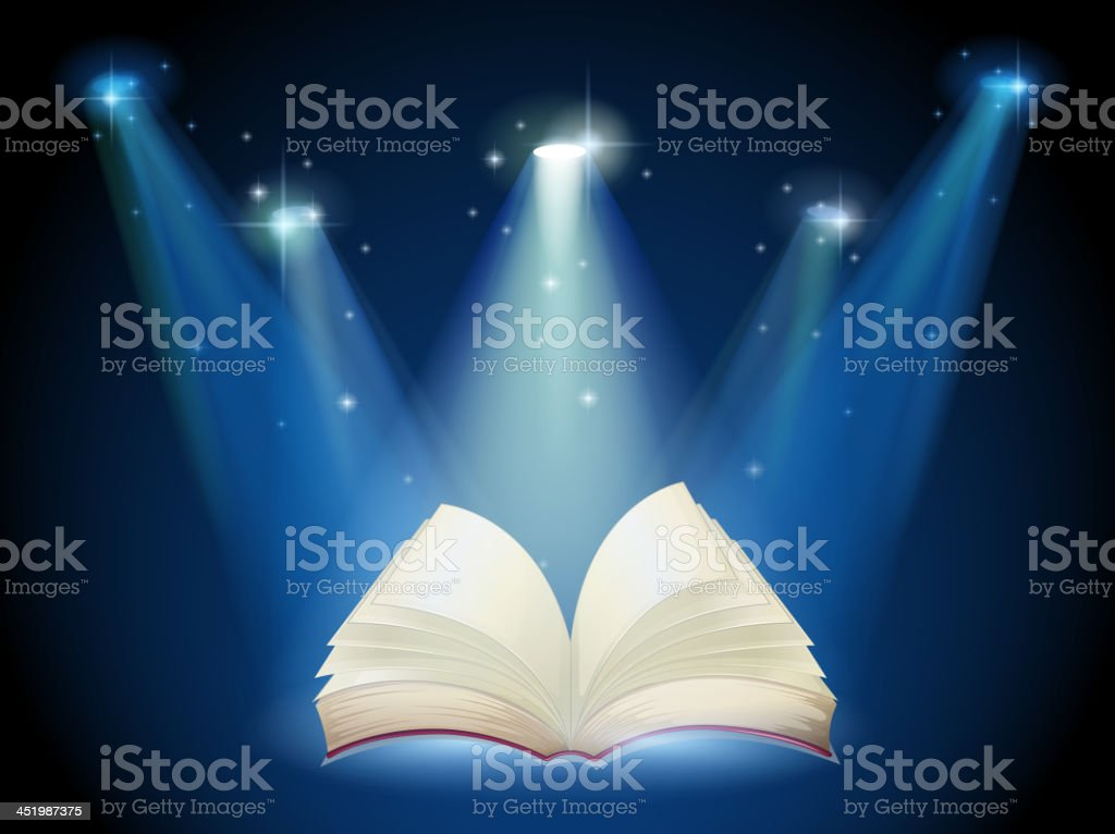 book with spotlights royalty-free stock vector art