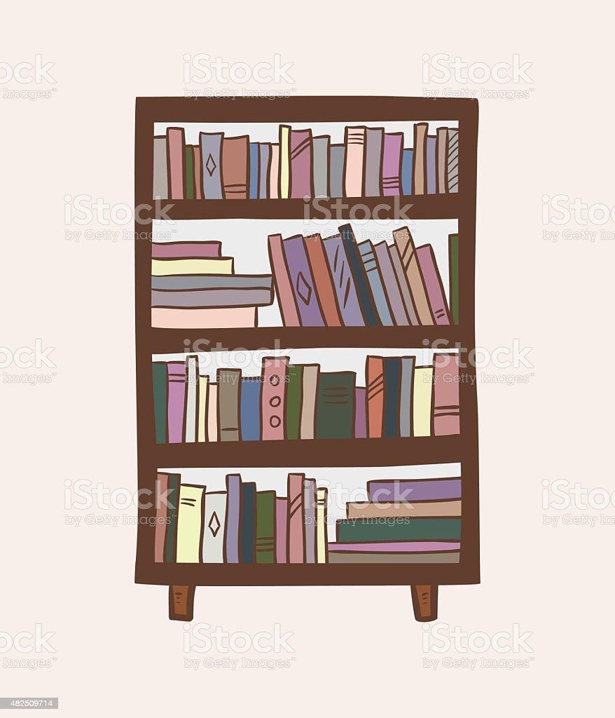 estante para libros ilustracin dibujo animado libre