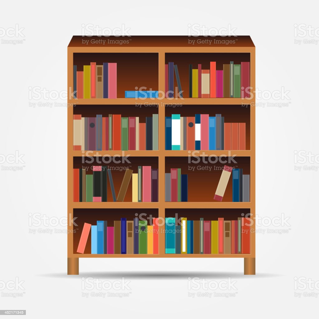 bookcase icon vector illustration royalty-free stock vector art
