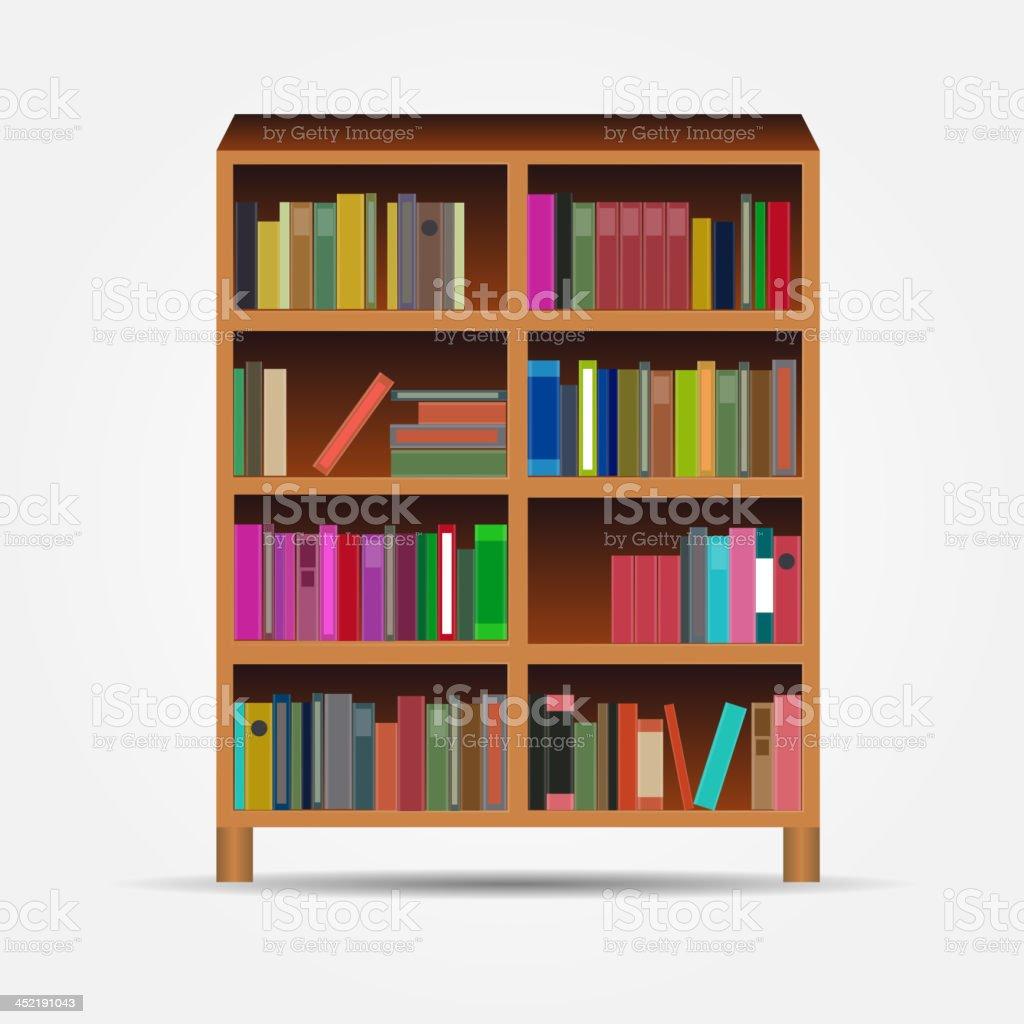 bookcase icon vector illustration royalty-free stock vector art
