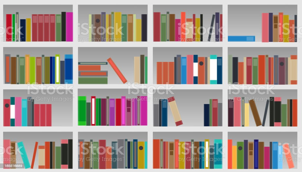 bookcase vector illustration royalty-free stock vector art