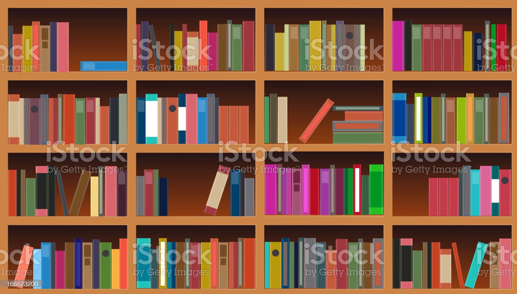 bookcase vector illustration royalty-free stock vector art