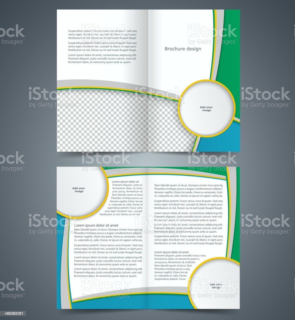 Booklet template, design with stripes, layout business brochure vector art illustration