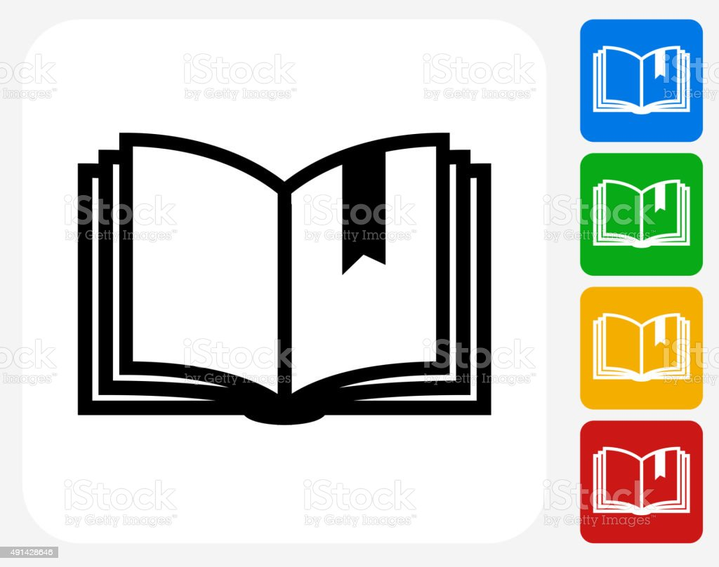 Bookmark Icon Flat Graphic Design vector art illustration