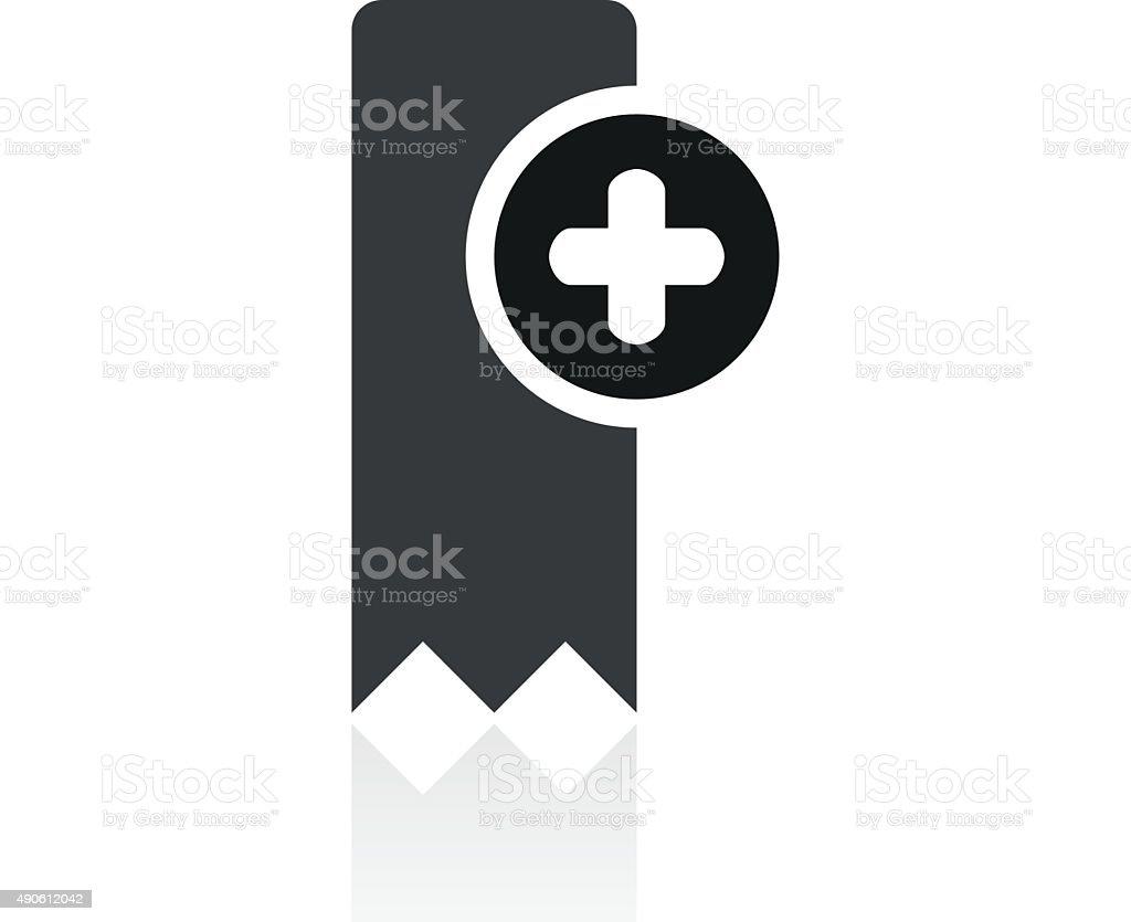 Bookmark icon on a white background. - PrimeSeries vector art illustration