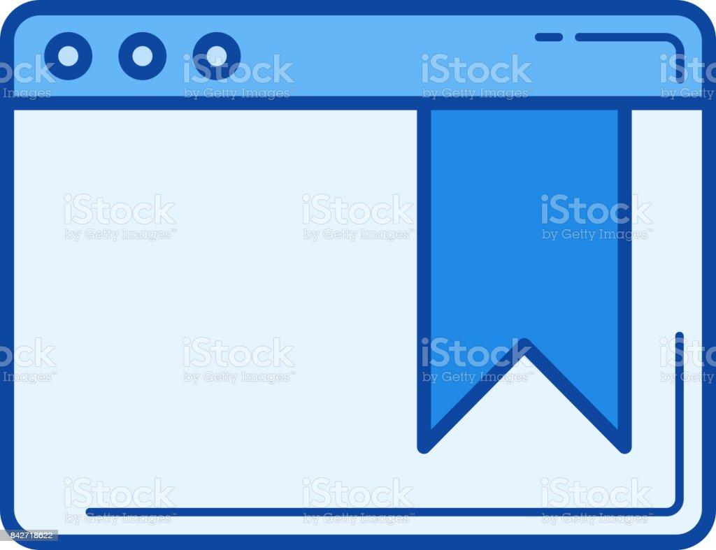 Bookmark line icon vector art illustration