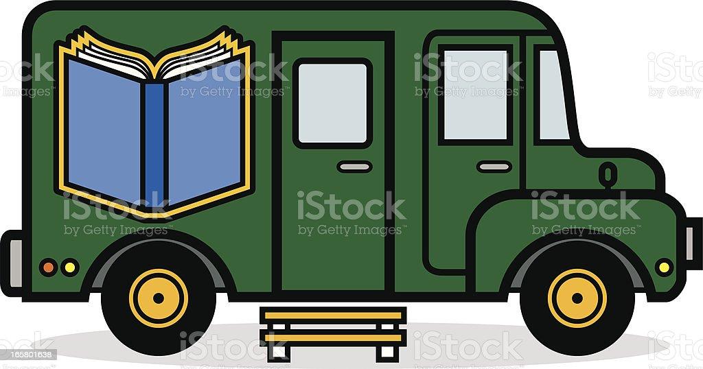 Bookmobile vector art illustration
