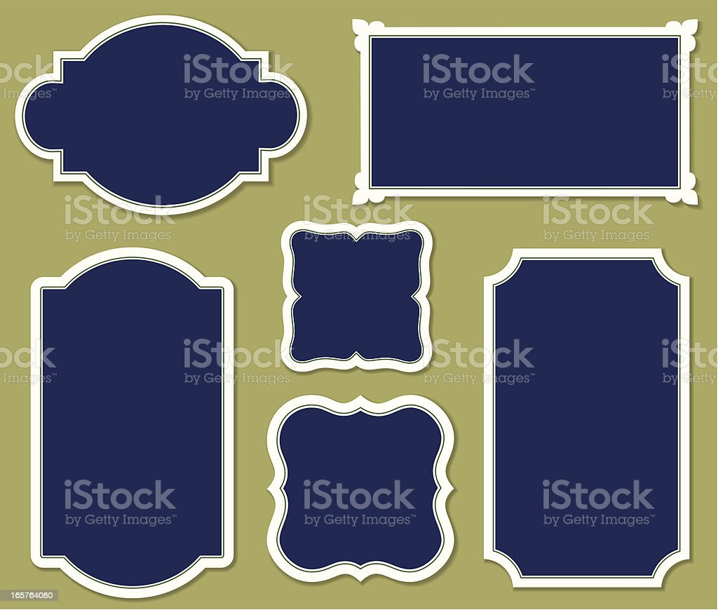 Bookplates with drop shadow effects royalty-free stock vector art