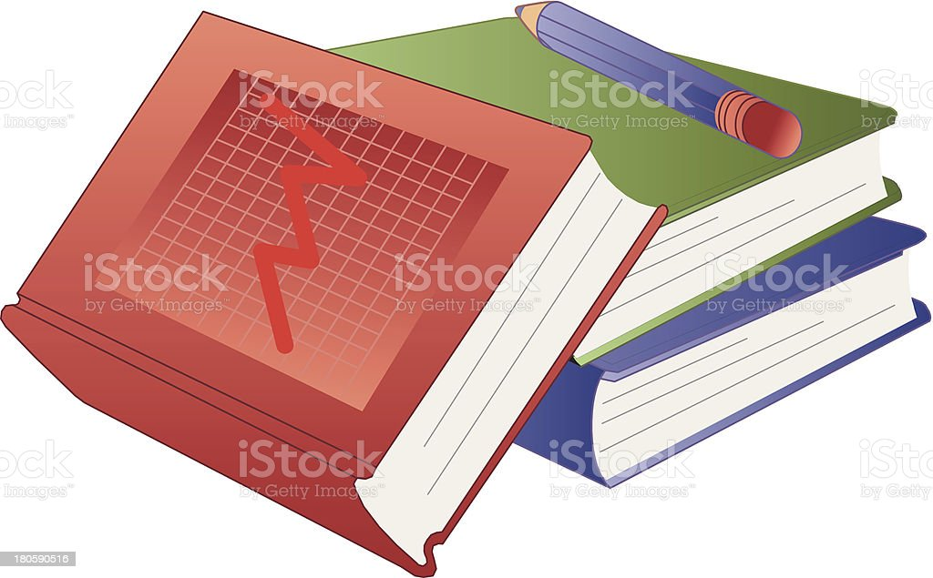 books and pen royalty-free stock vector art