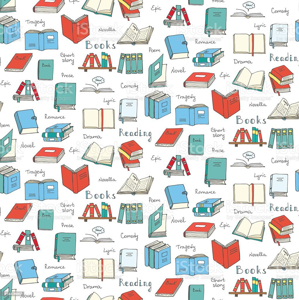 Books and Reading vector art illustration