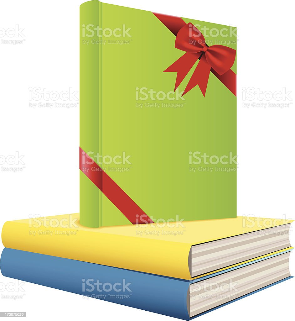 Books as a Gift royalty-free stock vector art