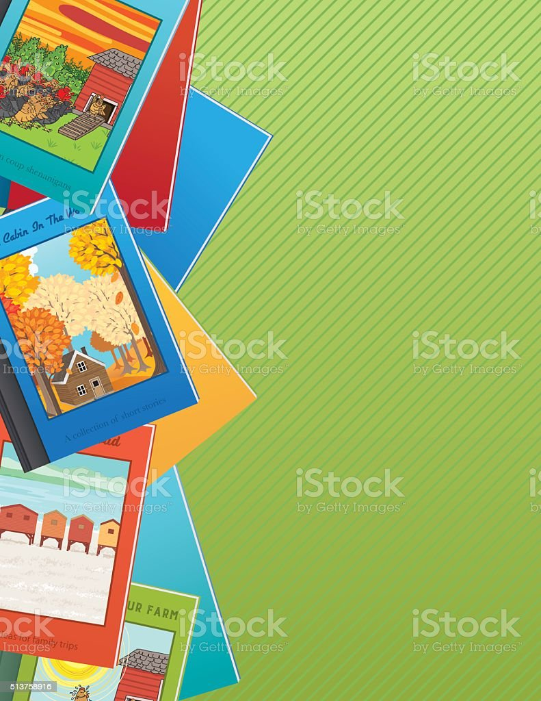 Books Background or Border vector art illustration
