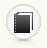 Books icon on white round vector button