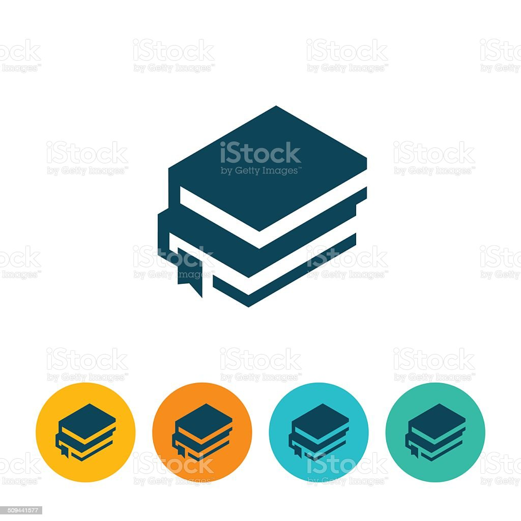 Books Icon vector art illustration