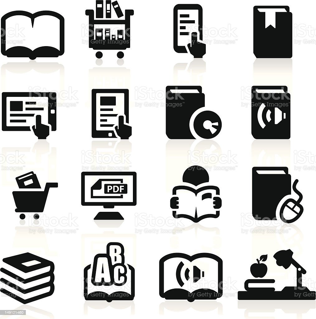 Books icons set Elegant series royalty-free stock vector art
