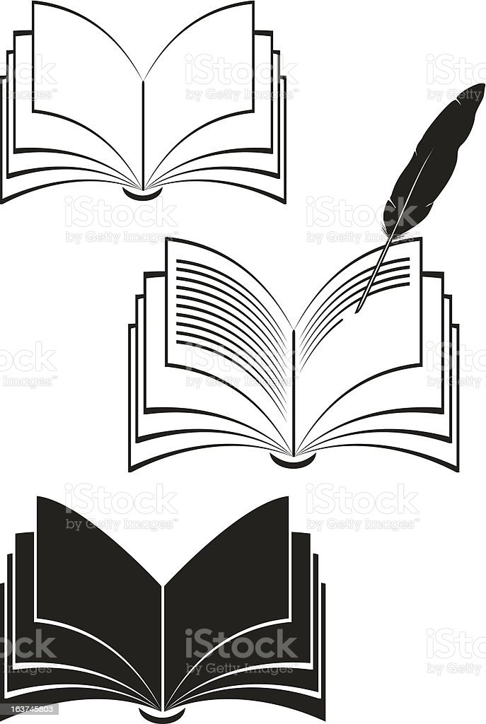 Books of black color. Vector. royalty-free stock vector art