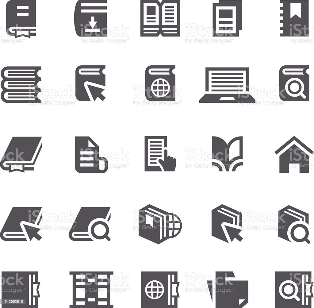 Books reader icons vector art illustration
