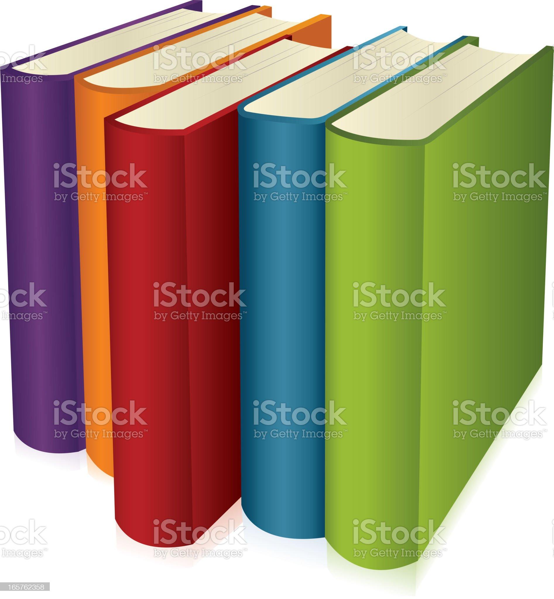 Books row royalty-free stock vector art