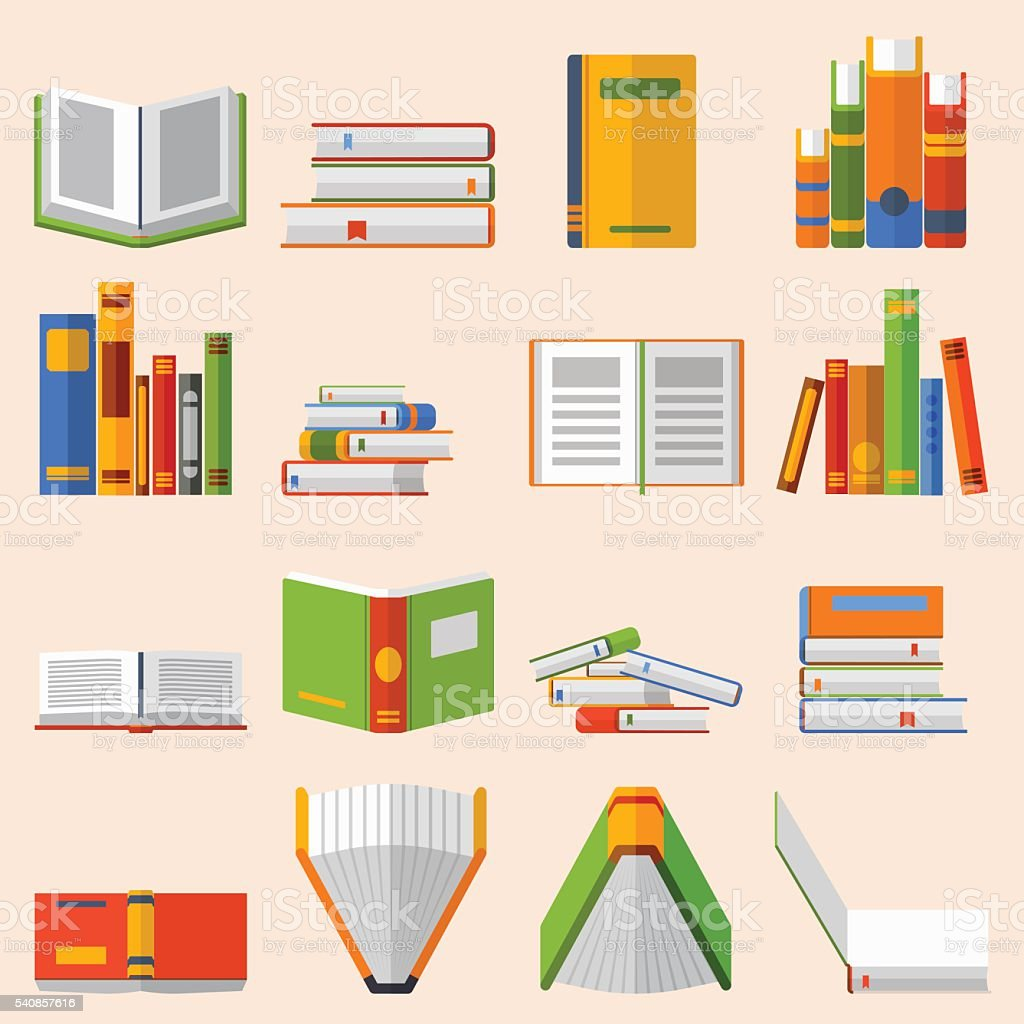 Books set vector illustration. vector art illustration