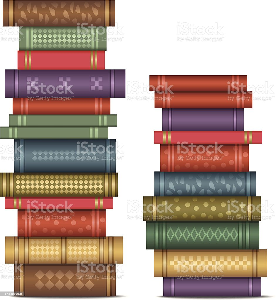 Books stack vector art illustration
