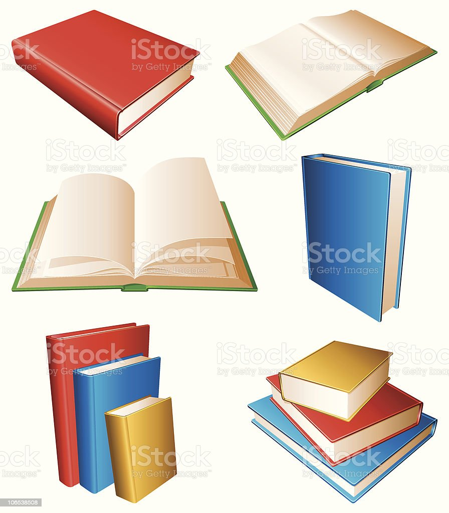 Books. royalty-free stock vector art