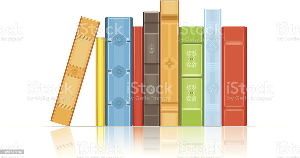 Books vector art illustration