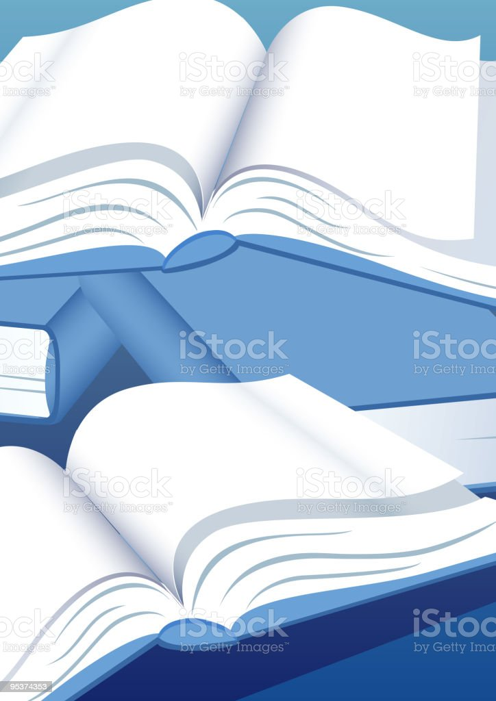Books royalty-free stock vector art