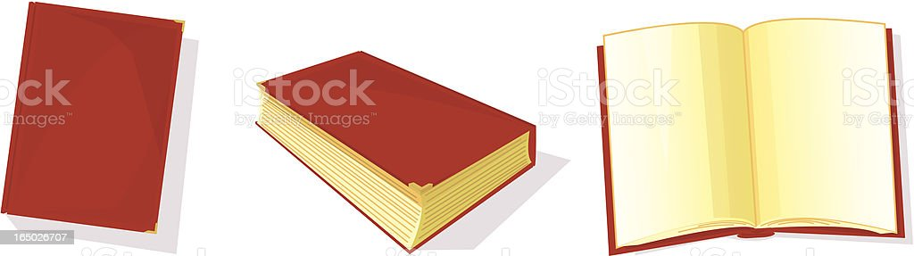Books - Vector royalty-free stock vector art