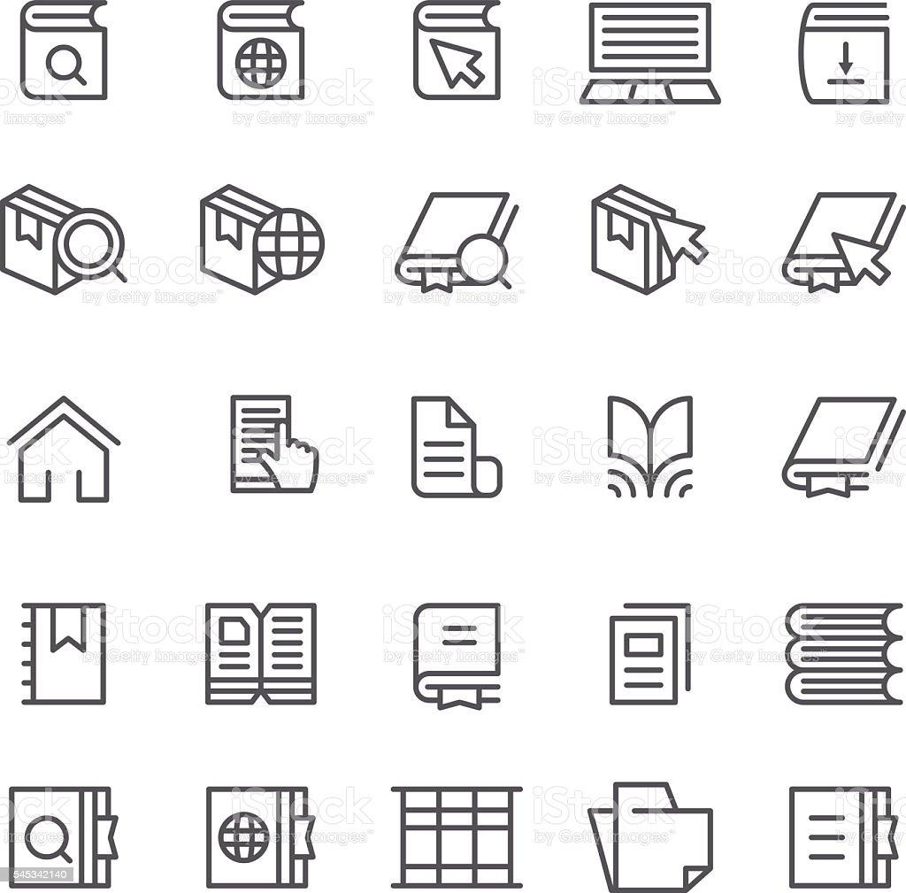 Books web icons vector art illustration