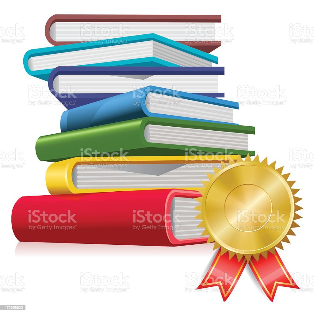 books with award royalty-free stock vector art