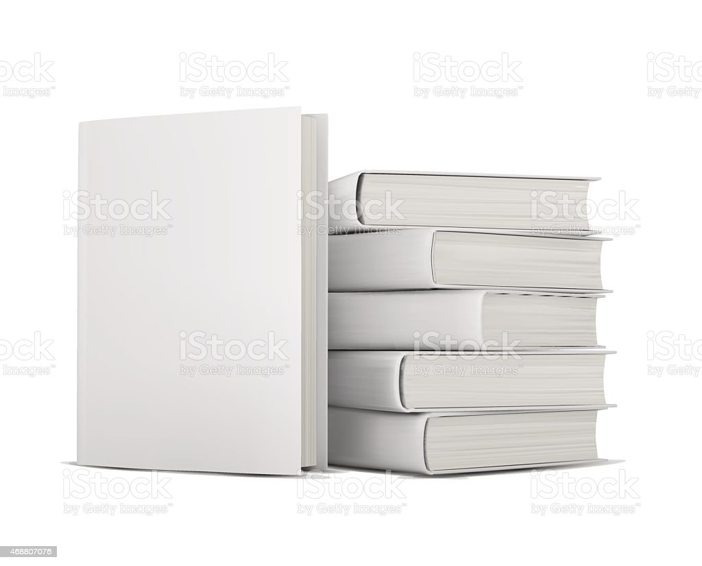 books with blank covers vector art illustration