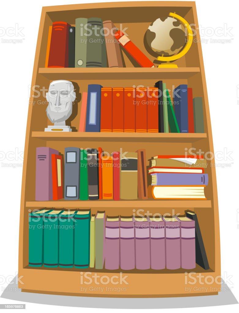 Bookshelf vector art illustration